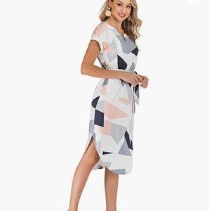 Summer casual Geopattern  Midi Dress S